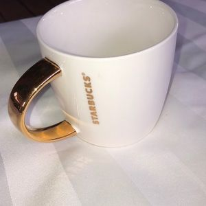 Starbuck's gold handle cup